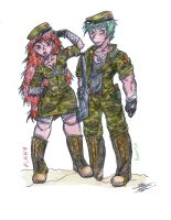That militar girl... Flippy X Flaky again by Zapitoow