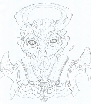 The Archon (Old Sketch, before full reveal) by 0-DarknesShade-0
