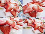 Strawberries 'n' Cream Banana Pancakes by Sugary-Stardust