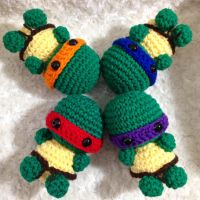 Mini Ninja Turtle Crochet Amigurumi by npierce122