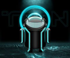 Tron Android - Cyan with Text by jairomeo