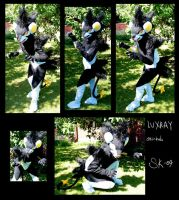 Luxray cosplay costume by Zanna-kun