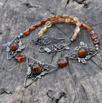Daragh: Oak Amber Sterling Silver necklace by Eire-handmade