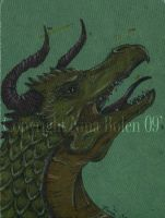 Old Dragon ACEO by The-GoblinQueen