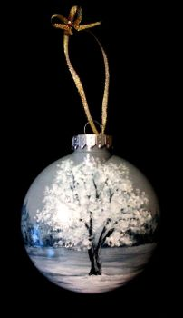 Frosted Tree Ornament Commission by TreeCree