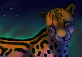 Kingcheetah Speedpaint (request) by Chaosthief