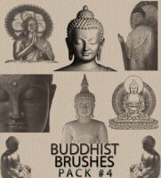 Buddhist Brushes Pack 4 by lotus82