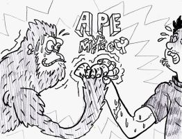 Ape Vs Mikey by mikey-c