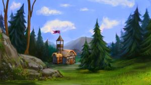Speedpaint: Nanny`s Hunting Lodge by JuneJenssen