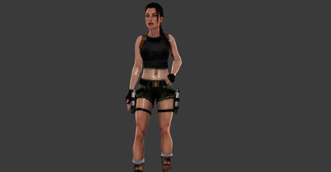 AOD Lara hand on hips pose by ArtiMuller
