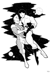 Lightning Lad and Cosmic Boy by BevisMusson