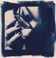 Cyanotype Self-Portrait 2 by fille-d-amoureux
