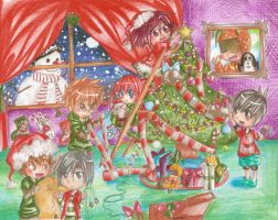 Postal in Christmas by amu-chan13
