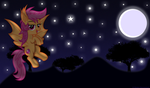 A Lovely Night Wallpaper/Shaded Vector by 8-Notes