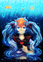 Bottle Miku by LilHeart