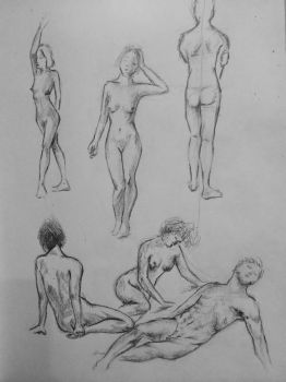 quick sketches of human body from yesterday by agsxx