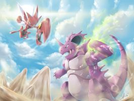 [C] Nidoking vs Scizor! by R-nowong