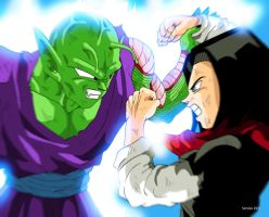 Piccolo and C17 Dragon Ball Z by Sersiso