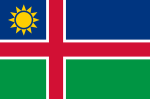 Nordic Cross Alternate Flag of Namibia by kyuzoaoi