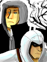 Alex and Altair by antiphile
