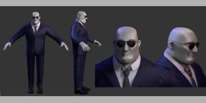 WIP Security Guard -Diploma Movie characters 1/3 by Magena77