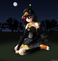 Angry Birds black bird girl 2 by Neon-Juma