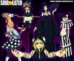 Soul Eater Witches by xDarkreepx