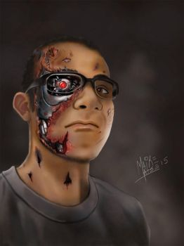 Self Portrait as T-800 by MaikeLaise