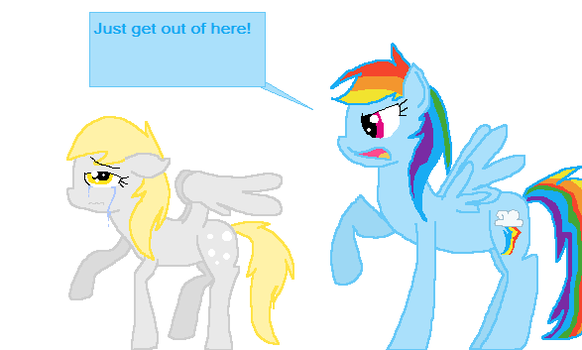 Rainbow Dash is mean by Cotton-Candy-Pony