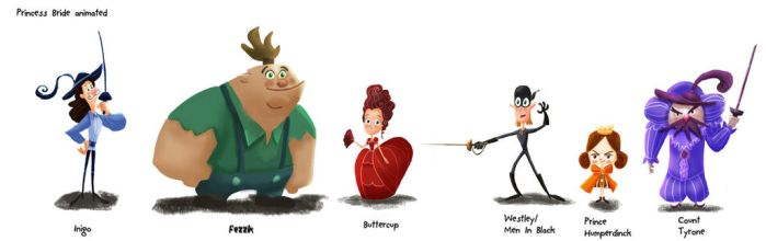 Princess Bride Animated Character Design by Allentine