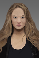 Jennifer Lawrence Digital Painting by i-am-71