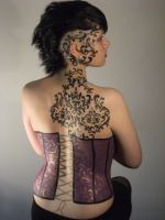 Corset Body Paint by doomdoomdedoom