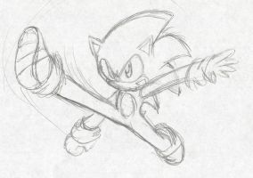 Fighters United: Sonic The Hedgehog :Sketch: by Xero-J