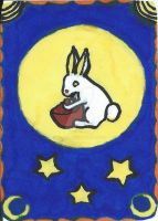 Copic Moon Rabbit ACEO by Ridafi