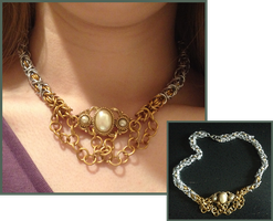 Chainmail Necklace by LittleFireDragon