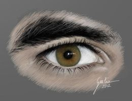 Darren Criss Eye by JuliaFox90