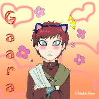 gaara with cat ears by chiakichian