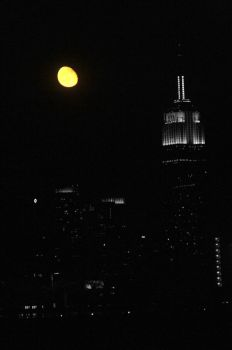 Harvest Moon in NYC by sugarcoat