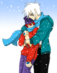 Dangelo x Jean - Hug in the snow by AniiTaRuiz