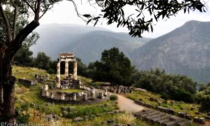Athena temple in Delphi by lailalta
