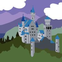 Mad Ludwig Castle by rosalarian