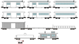 US Narrow Gauge Rolling Stock Bases by DanielArkansanEngine