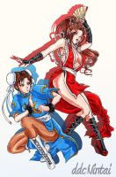Remake- Mai and Chun Li by lilmiss-sailorenigma