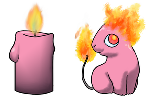 Candle Sprite - Pink by Pencil-Artisan