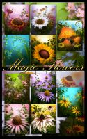 Magic Flowers Backgrounds by moonchild-ljilja