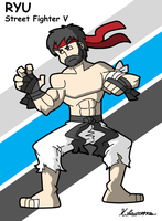 Hot Ryu Street fighter V by ObsidianWolf7