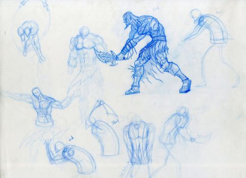 Kratos Anatomy Movement Study by demondeathx