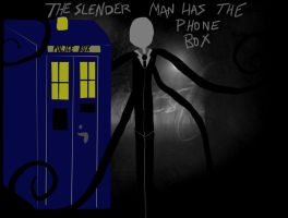 The Slender Man has the Phone box by Homicidally-Insane