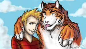 Calvin and Hobbes by Tiggstar