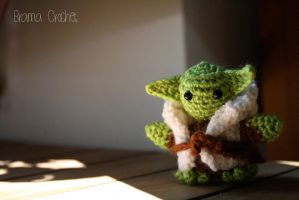 Yoda Star Wars Amigurumi doll by BramaCrochet